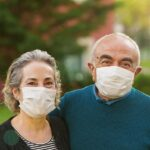 Couple with COVID-19 Masks